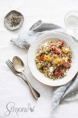venkelsalade met quinoa en tomaatazijn